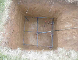 Picture of Anchor Hole and Rebar Cage